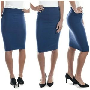 Professional Women Pencil Skirt, d-1114, Teal
